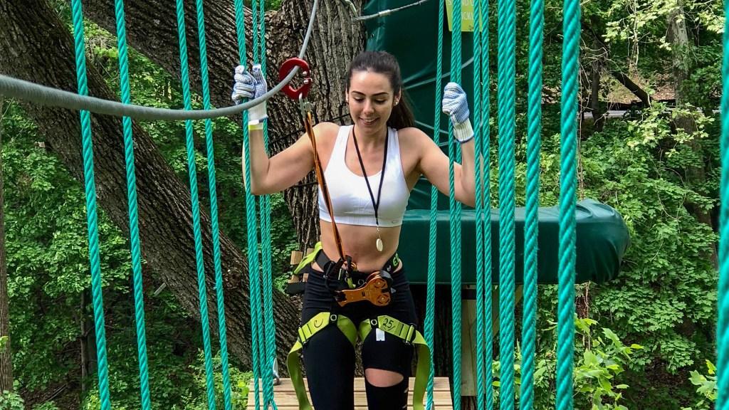 Billy Penn reporter Mónica Zorrilla braved Treetop Quest Philly