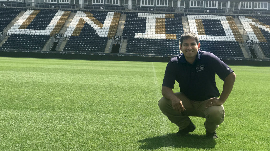John Torres, head groundskeeper at Talen Energy Stadium