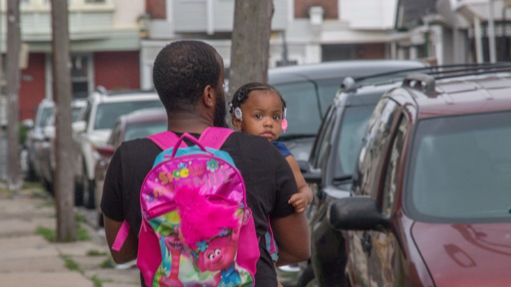 A father and daughter at last year's Father's Day Block Party in West Philly