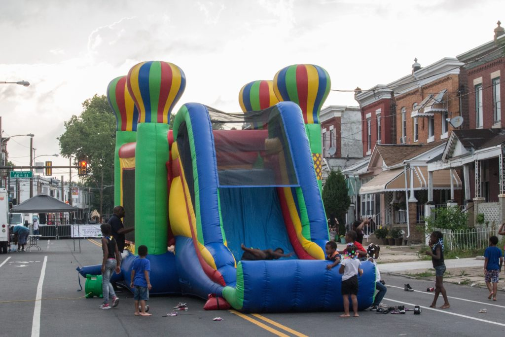 The moon bounce at last year's event