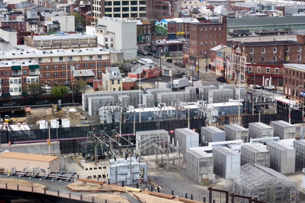 Phase One of The Rail Park (lower left) is adjacent to a PECO substation as well as residences