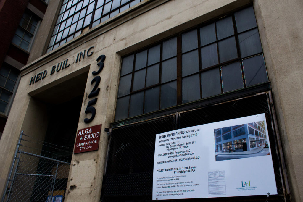 The Heid Building, an old hat factory located at 13th and Pearl Street, is being redeveloped into a mixed use building