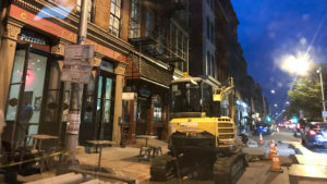 Nighttime construction has devastated Capofitto's dinner business