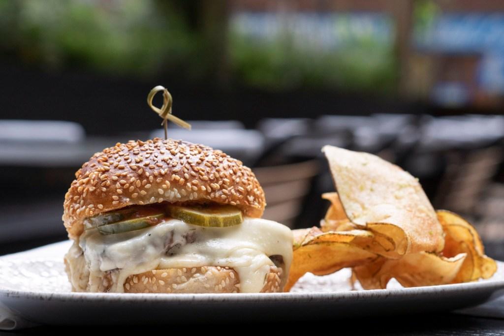 The 'Merica Burger at Harper's Garden