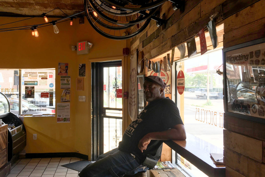 61-year-old Larry Kane, aka Pops, visits Kayuh Bicycles and Cafe every day