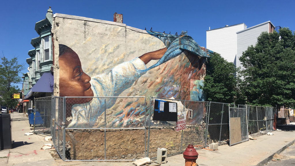 The 'Dream in Flight' mural at Point Breeze Avenue and Dickinson Street