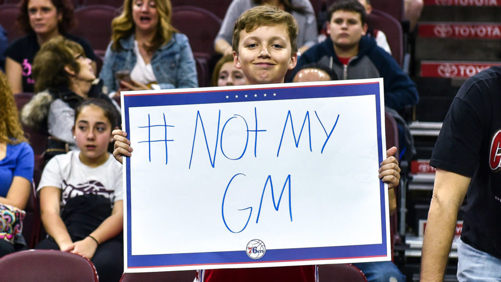 A young fan in 2017 who was not happy about Colangelo
