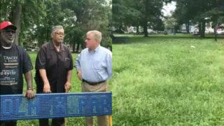 Left: Scott Wagner (far right); Right: Malcolm X Park in West Philadelphia