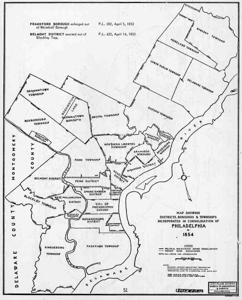 1854 – Philadelphia Consolidation