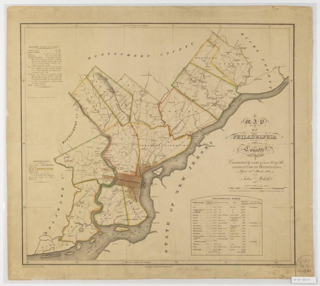 MapOfPhilaCountyAsOf1816_Of6101816M