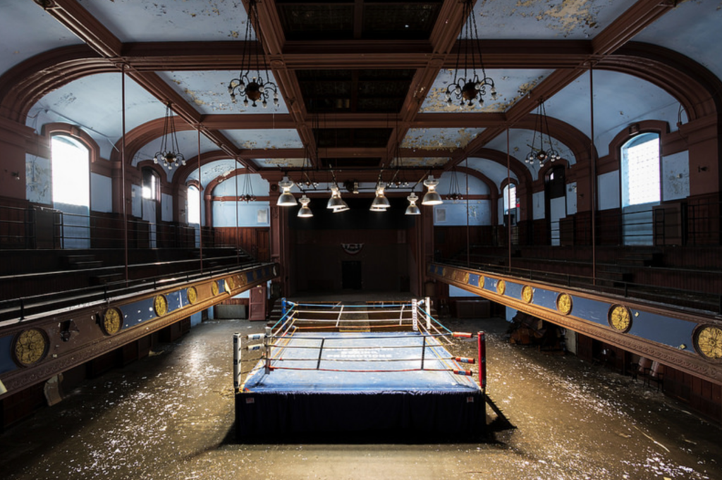 The Blue Horizon, a world class boxing ring that used to host fights on North Broad Street.