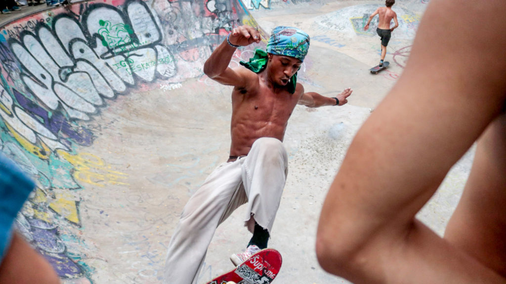 The FDR skatepark is maintained entirely by those who use it
