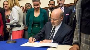 Gov. Wolf vetoed a 20-week abortion ban bill in December