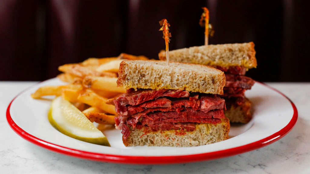 Pastrami sandwich at The Rooster
