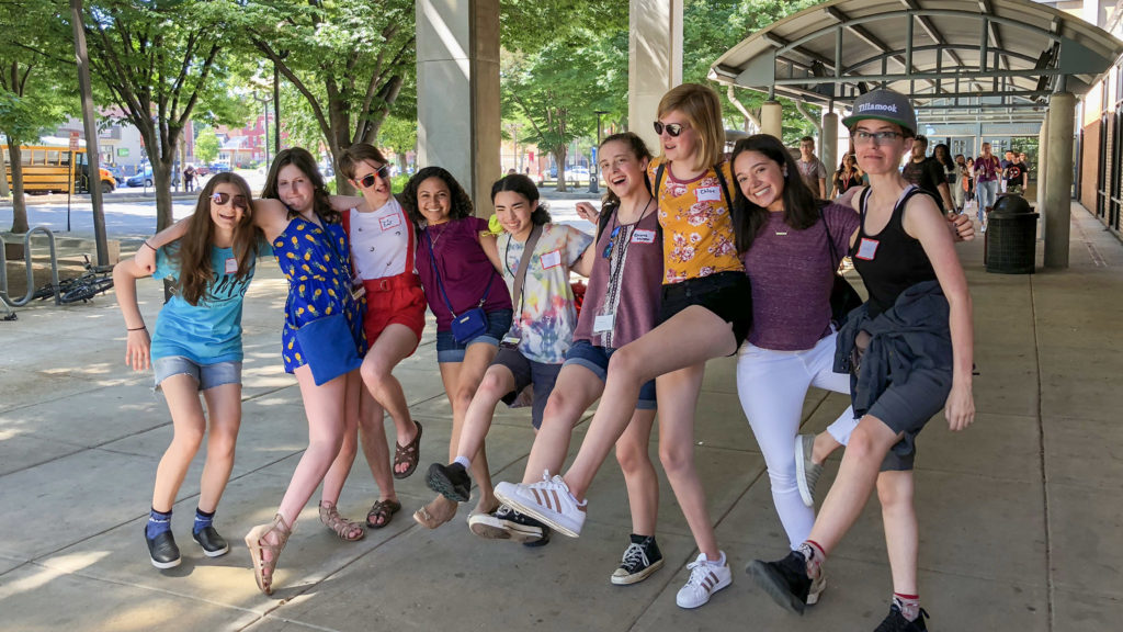Students and teachers at the new Young Women's Composers Camp