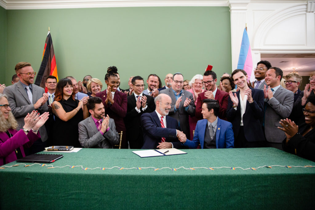 Gov. Tom Wolf signed an executive order to create an LGBTQ Affairs Commission.