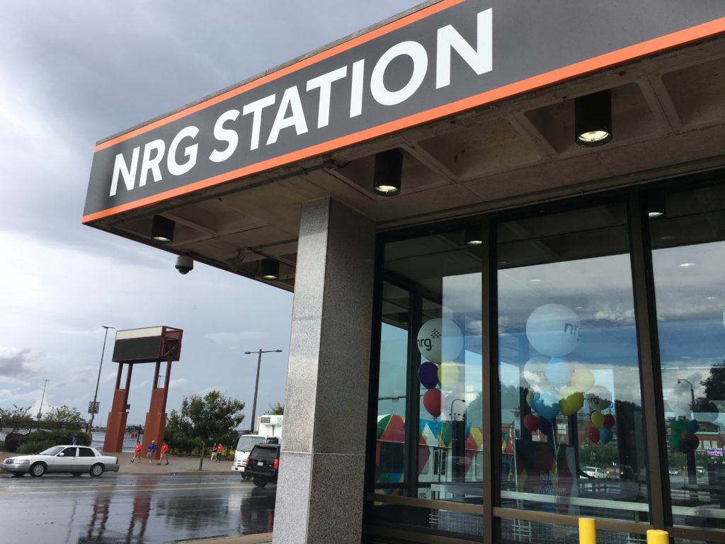Fresh signage at NRG Station