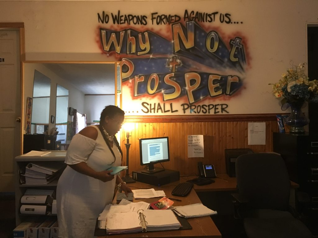Michelle Simmons in her office at the Why Not Prosper recovery house