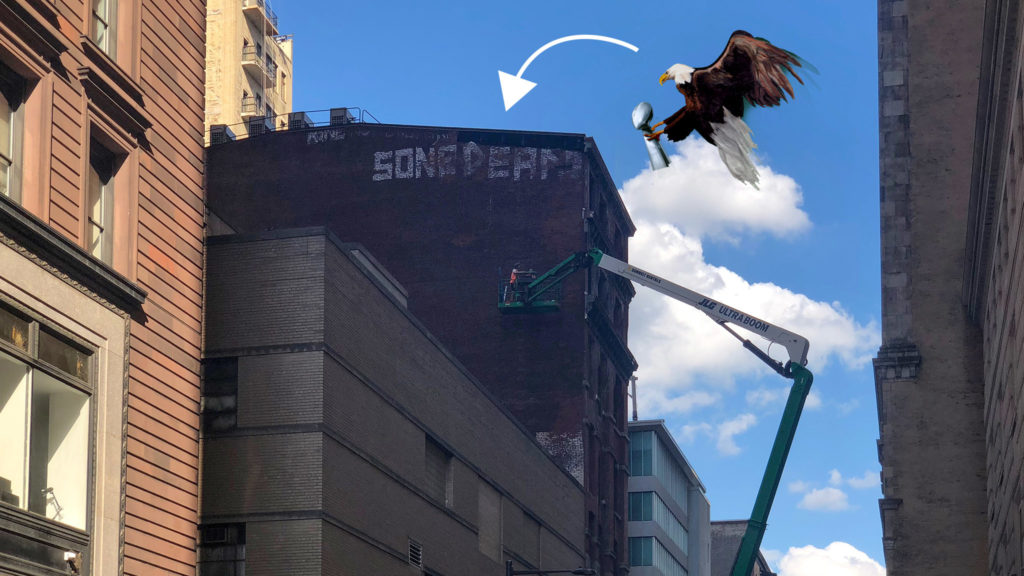 Plan is for the mural to be complete by the Eagles first game on Sept. 6