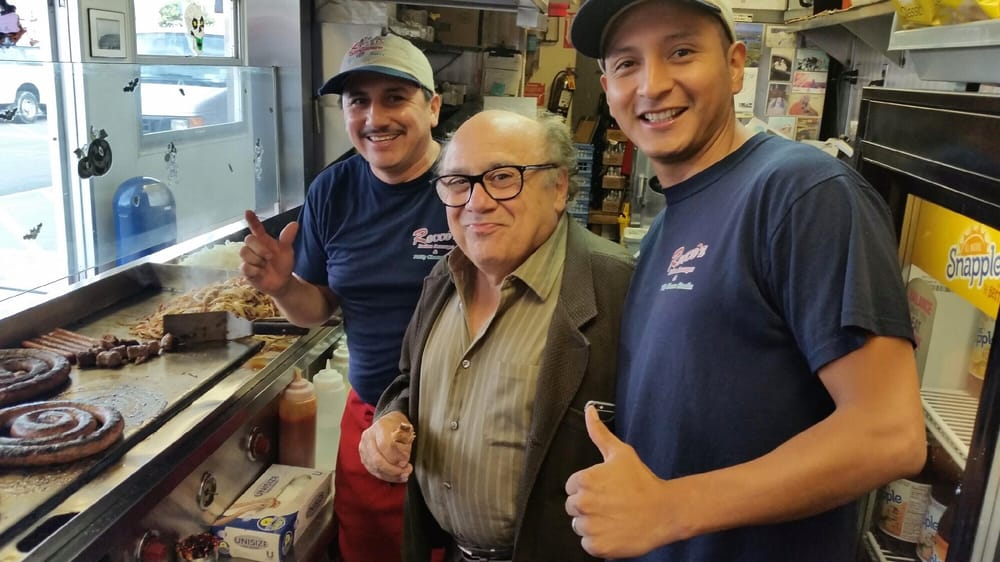 "Oh, hey there Danny Devito! The ""It's Always Sunny"" actor stopped by the Rocco's in NYC."