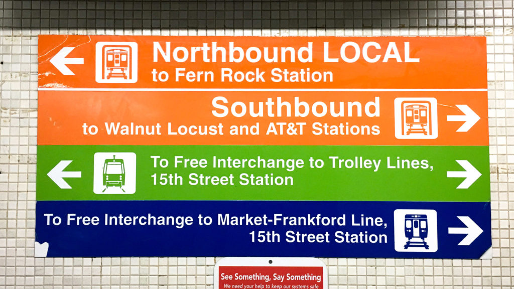 SEPTA must replace all the signs that say 'AT&T' with ones that say 'NRG'