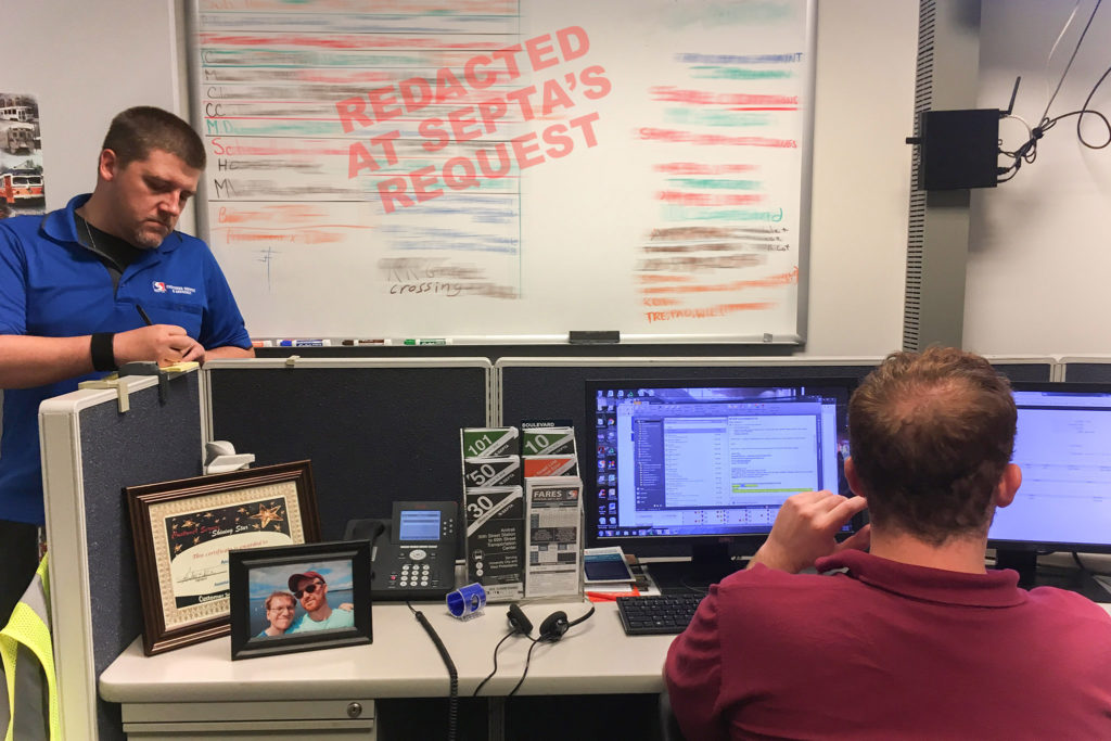 Dennis Zorzi (left) leads the SEPTA Social team