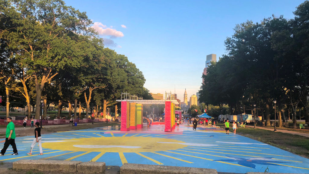 The pop-up Oval installation in front of the Art Museum is set to become permanent