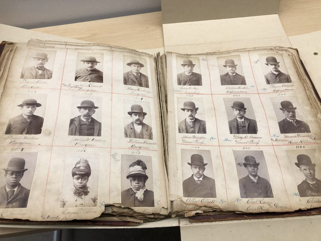 Mugshots from a 1888-1890 rogues gallery.