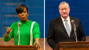 City Councilwoman Cherelle Parker; Mayor Jim Kenney