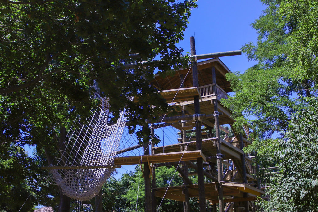 Part of the Outward Bound ropes course, which will be open to the public