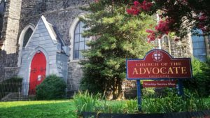 The Church of the Advocate at 18th and Diamond streets