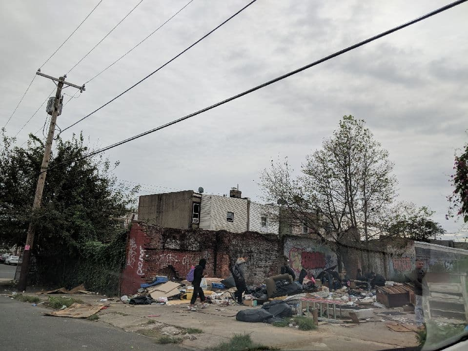 A private lot on Willard Street turned into an encampment for people experiencing homelessness.