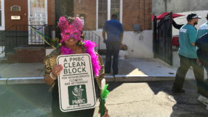 Joyce Lloyd, the block captain at 1500 S. Taylor St. in Point Breeze