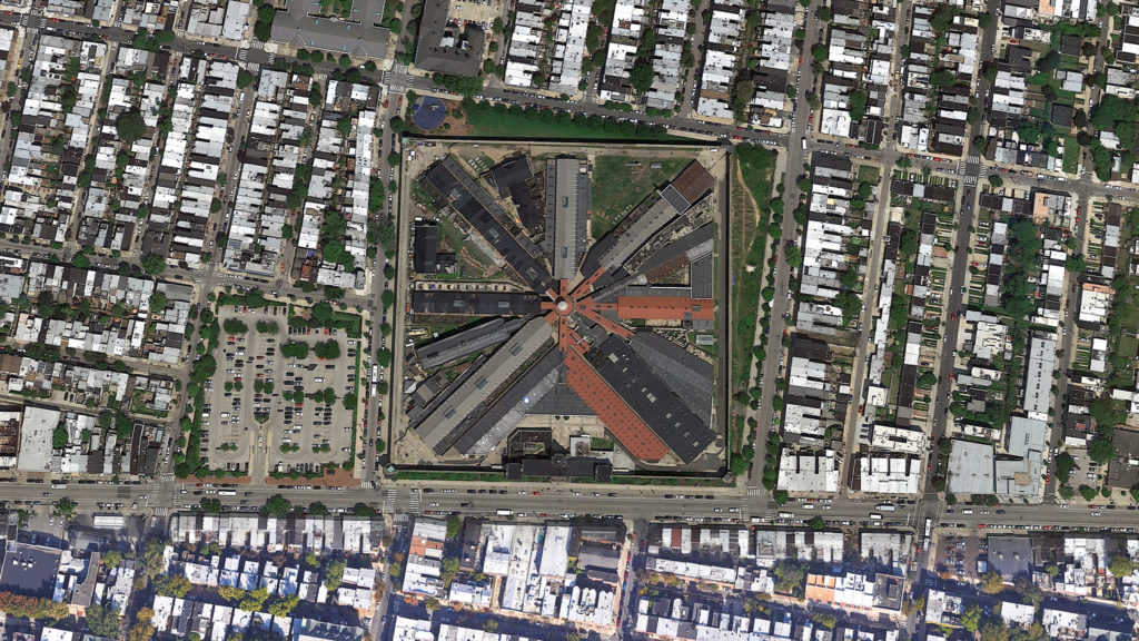 Eastern State Penitentiary from above