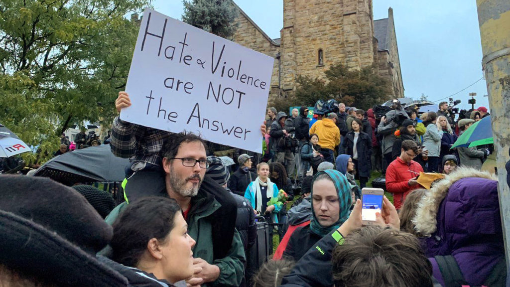 Pittsburghers gathered for a vigil after the Oct. 27 shooting at Tree of Life synagogue