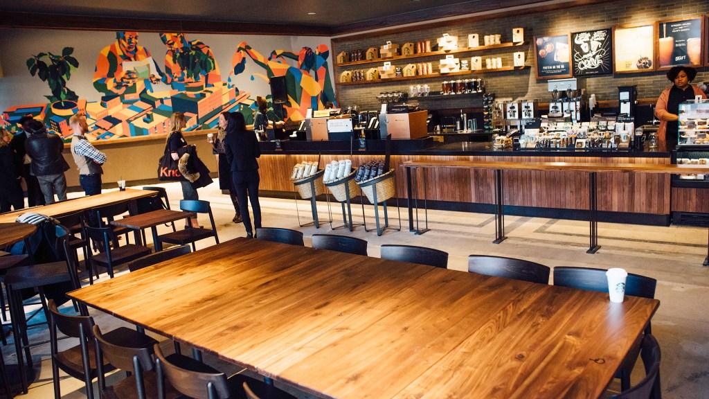 A Starbucks community store in Bedford-Stuyvesant, Brooklyn