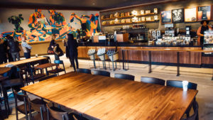 A Starbucks community store in Bedford-Stuyvesant, Brooklyn