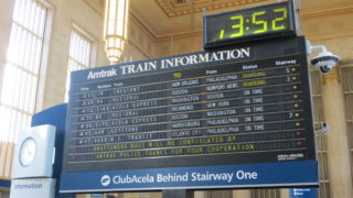 The antique Amtrak Solari board
