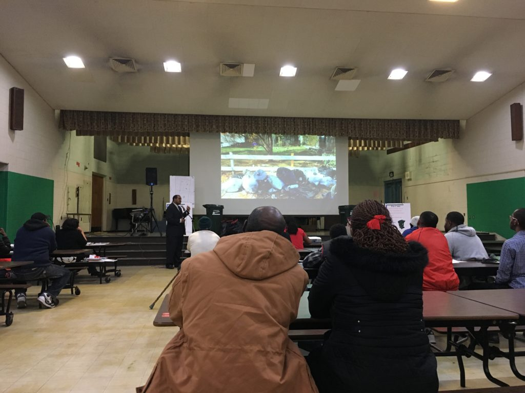 On Tuesday night, North Philadelphia residents were made to watch a slideshow of trash photos taken in their neighborhood.