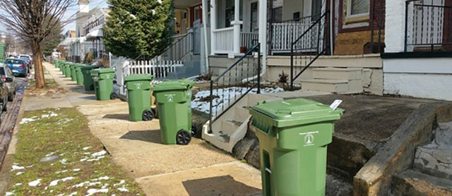 Municipal trash cans in Baltimore