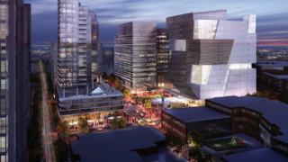 Rendering of uCity Square, one of many glossy images used in Philly's wooing proposal to Jeff Bezos