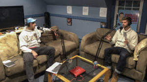 'Philly Famous Podcast' host Greg Holdsman (left) interviews Rob Lawless of @Robs10kFriends
