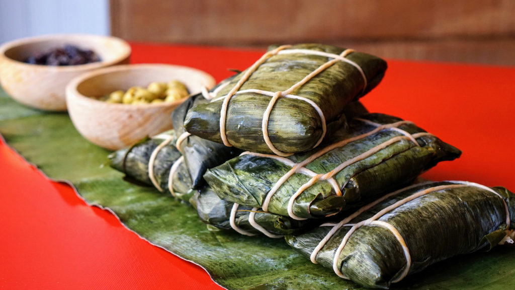 Hallacas are a traditional Venezuelan holiday meal