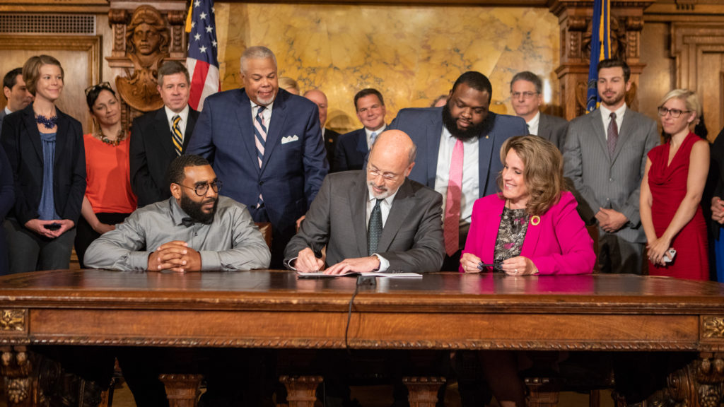 Gov. Tom Wolf signs a landmark Clean Slate bill.