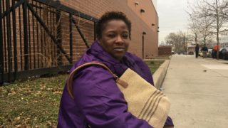 Bobbi Walker, 40, lived in her apartment for 10 months before a five-alarm fire destroyed the building on Monday.