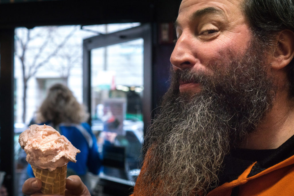 2SP head brewer Bob Barrar and his favorite food, ice cream