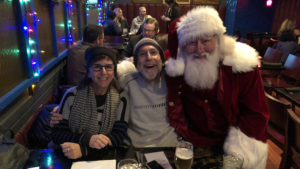 Real Philly Santa posing with Philly Quizzo regulars