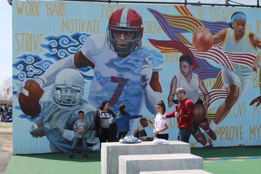 The Smith Rec mural