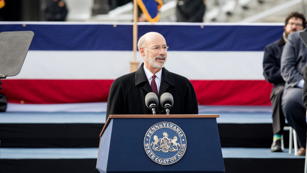 Gov. Tom Wolf delivers his second inaugural speech