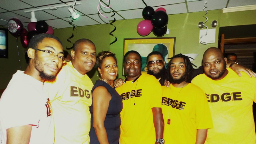 Councilwoman Cindy Bass (center) with her aide Tyrone Barge (to her left) and other EDGE affiliates at a September 2015 fundraiser in Germantown